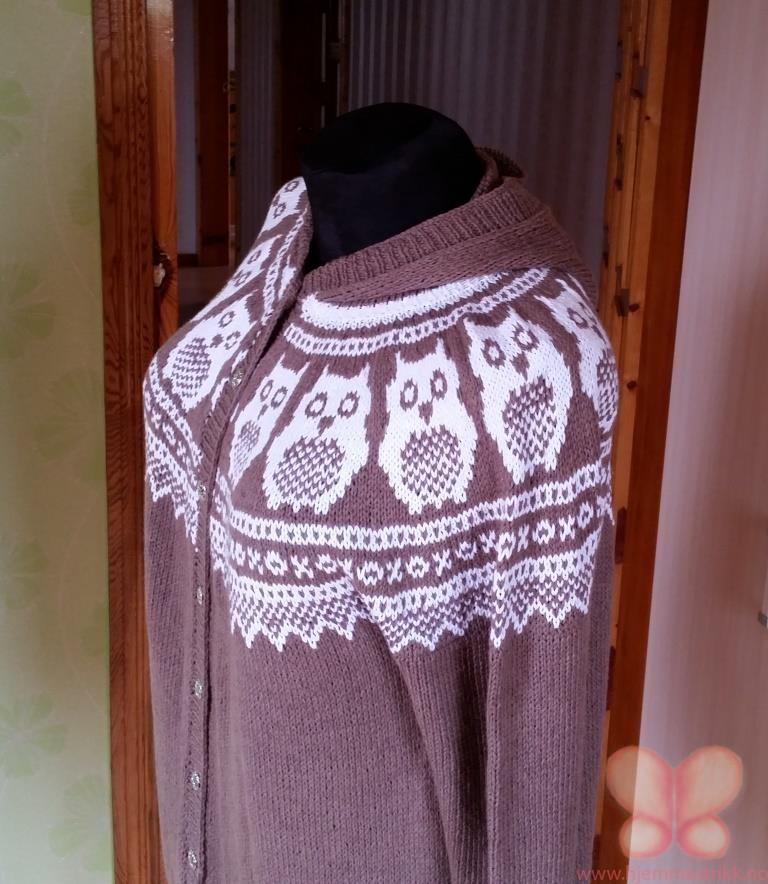 Marius genser med ugler (XL) | hjemmestrikk