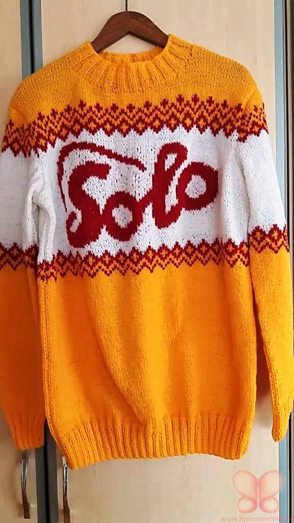 oransje genser strikk hjemmestrikk