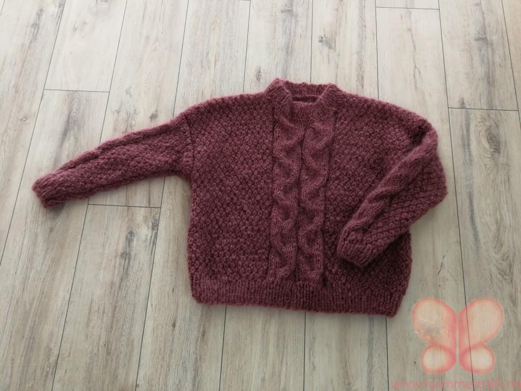 Tone genser (M) Burgund | hjemmestrikk